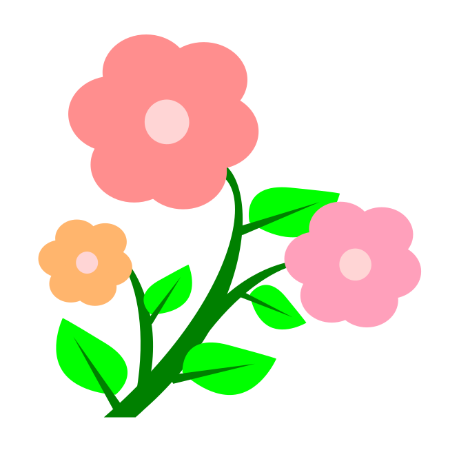 Trolls flower clipart jpg black and white download Spring Flowers - this clipart was made from over 30000 free images ... jpg black and white download