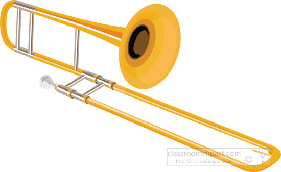 Trombones clipart vector library library Trombone Clipart Without Background - Clipart1001 - Free ... vector library library