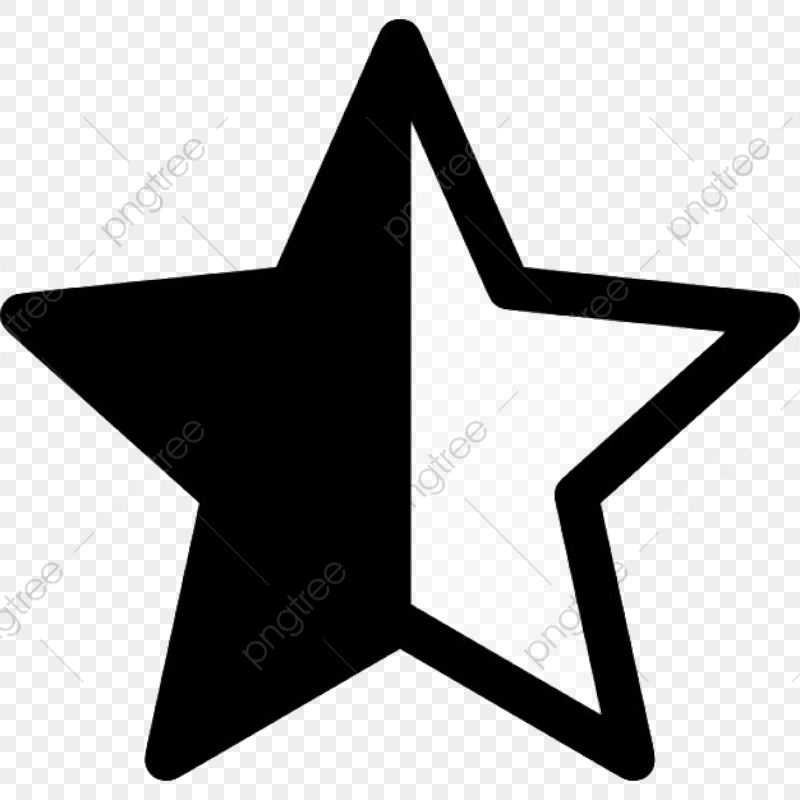 Rate Star, Rating, Rate Me, Star PNG and Vector with ... clip black and white stock