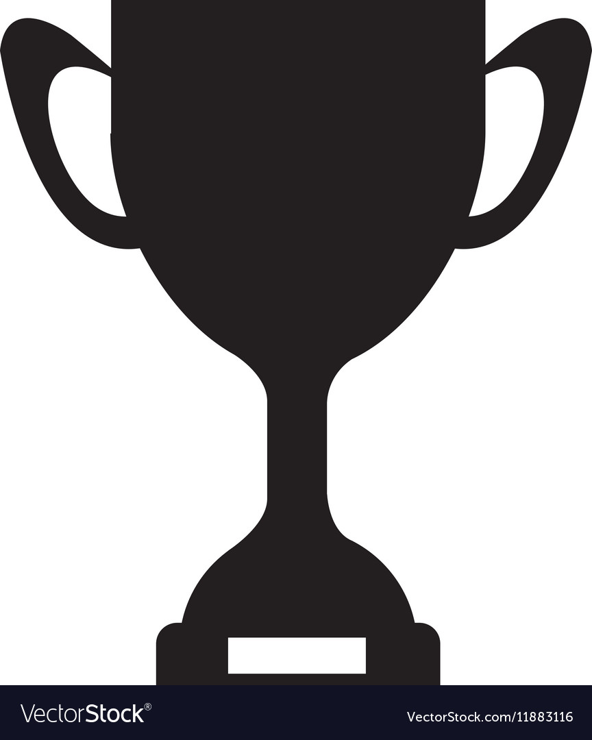 Trophy cup silohouette clipart png library library Silhouette monochrome Trophy Cup with plate png library library