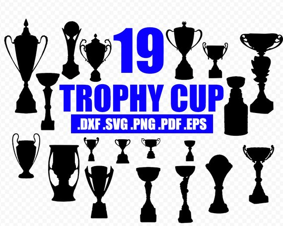 Trophy cup silohouette clipart image free Winner Medals svg, win svg, awards silhouettes, trophy cup ... image free