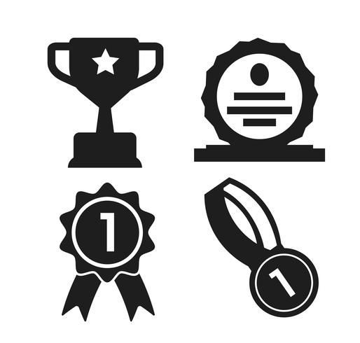 Trophy in shield clipart black png library shield, medal and trophy Icon of the winner of the ... png library