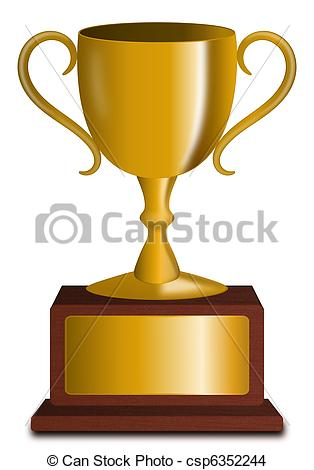 Trophy number 1 clipart vector black and white library Trophy Stock Illustrations. 41,174 Trophy clip art images and ... vector black and white library