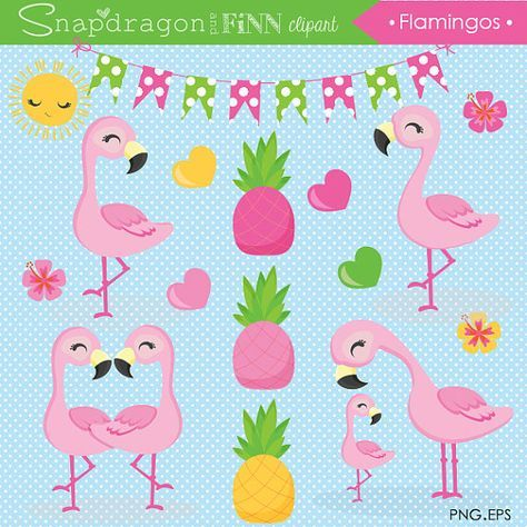Tropical baby clipart graphic freeuse download Flamingo clipart, Cute Flamingo, Flamingo Baby, Pink ... graphic freeuse download