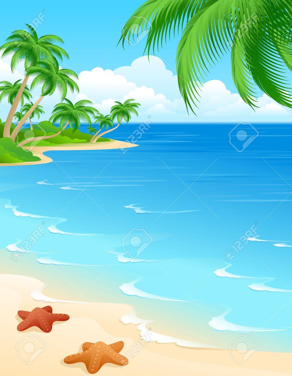 Tropical Beach Clipart 5 - 1009 X 1300 - Making-The-Web.com clipart transparent