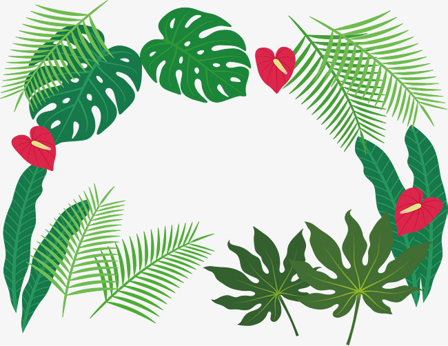Tropical border clipart banner library library Tropical Border Clipart | Free download best Tropical Border ... banner library library