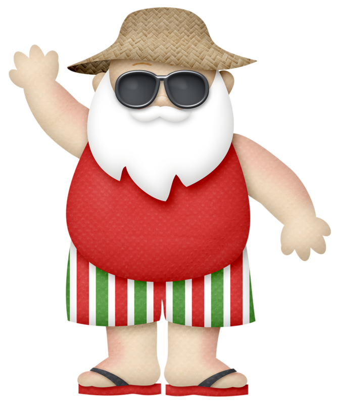 Tropical christmas clipart graphic royalty free Sunny Holidays | Santa, Clip art and Christmas clipart graphic royalty free