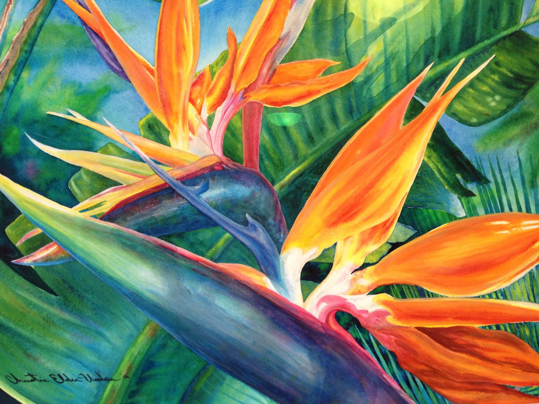 Tropical flower artwork