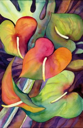 Tropical flower artwork png free stock Jocelyn Cheng Art :: Hawaii artist - tropical, floral, botanical ... png free stock