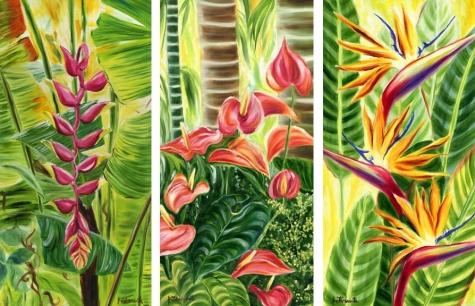 Tropical flower artwork graphic transparent Tropical flower artwork - ClipartFest graphic transparent