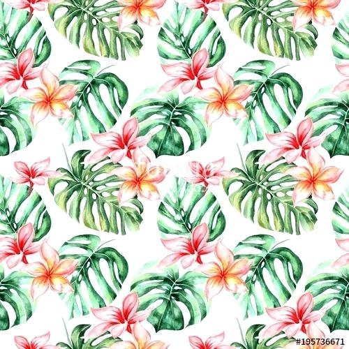 Tropical flowers palm leaves clipart black and white download tropical flowers and leaves – printerium.net black and white download