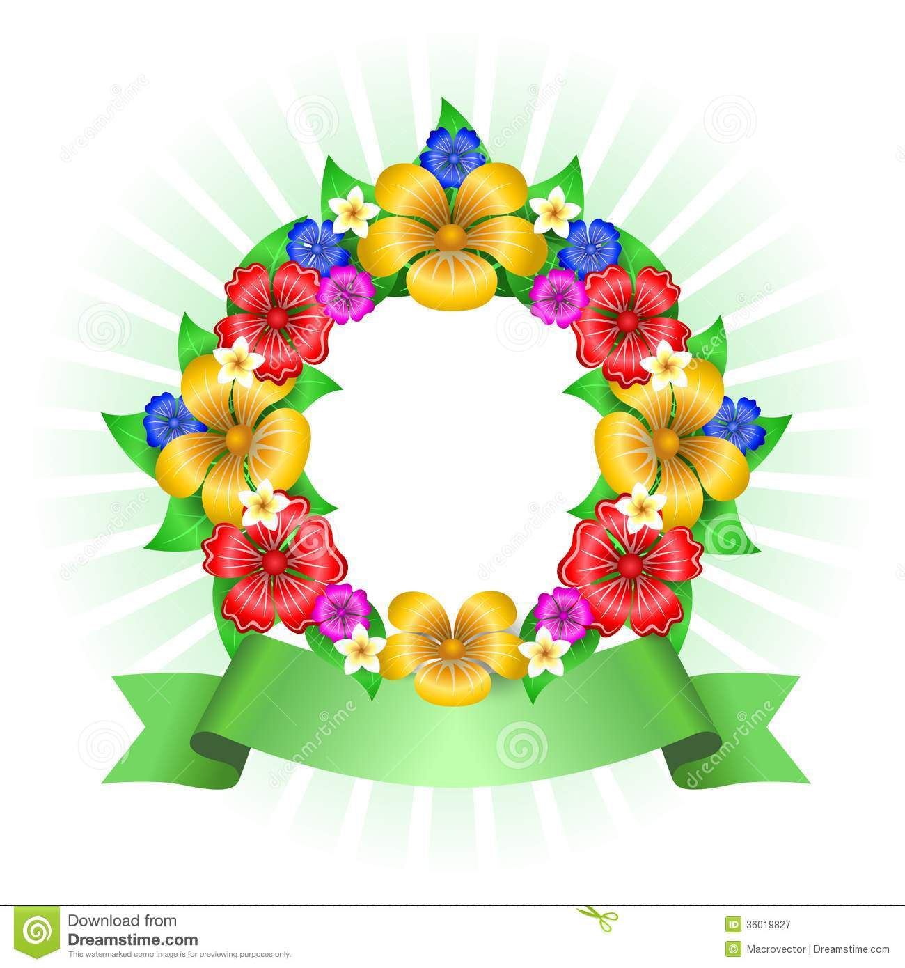 Tropical flowers pictures free picture Tropical Flowers Wreath Frame Royalty Free Stock Photography ... picture