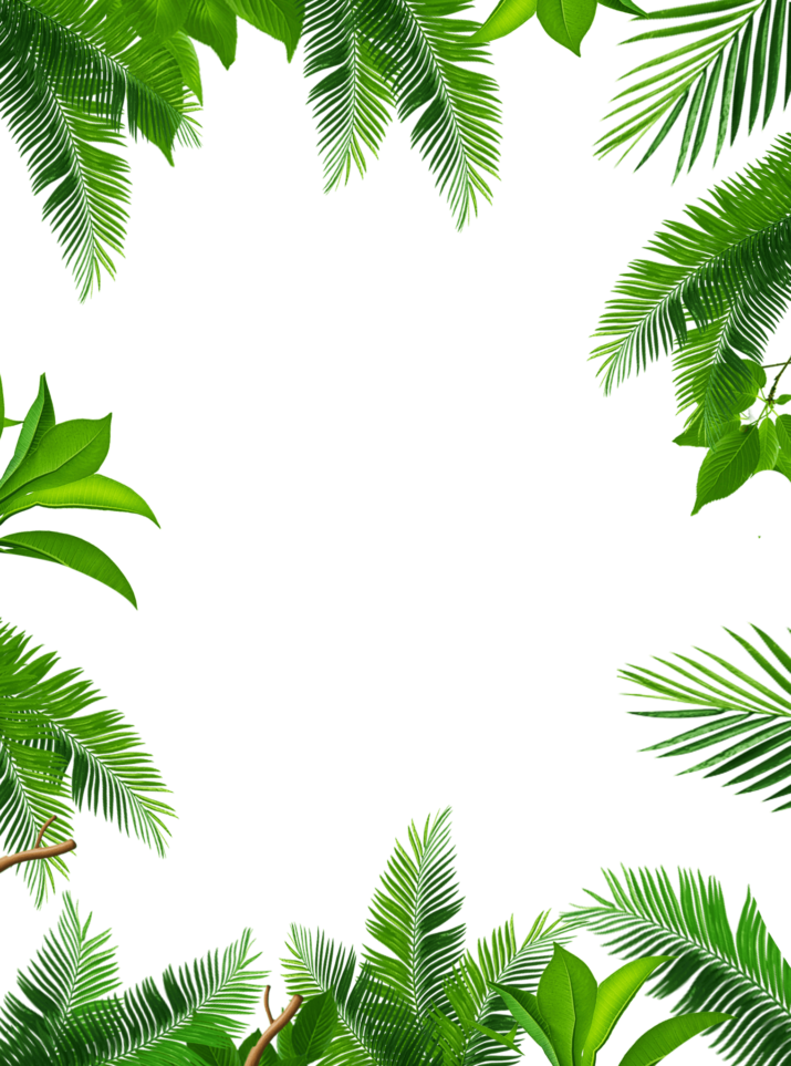 Tropical frame clipart free banner library Tropical Leaves Frame PNG Image Free Download searchpng.com banner library