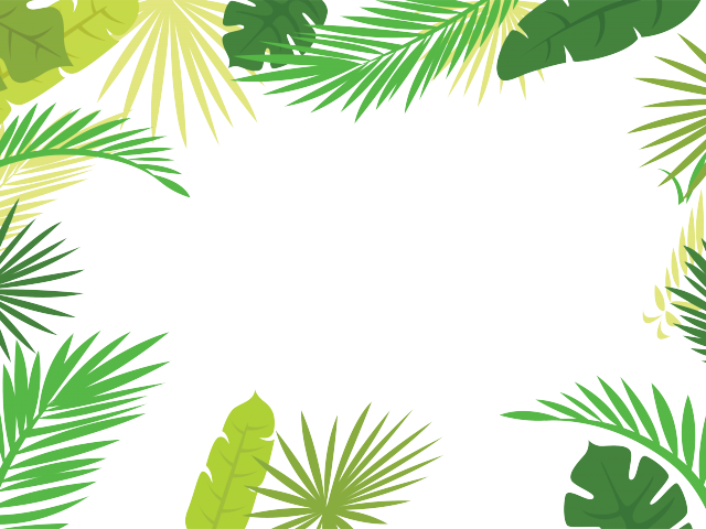 Tropical frame clipart free vector library HD Natural Environment Clipart Environment Border - Tropical ... vector library