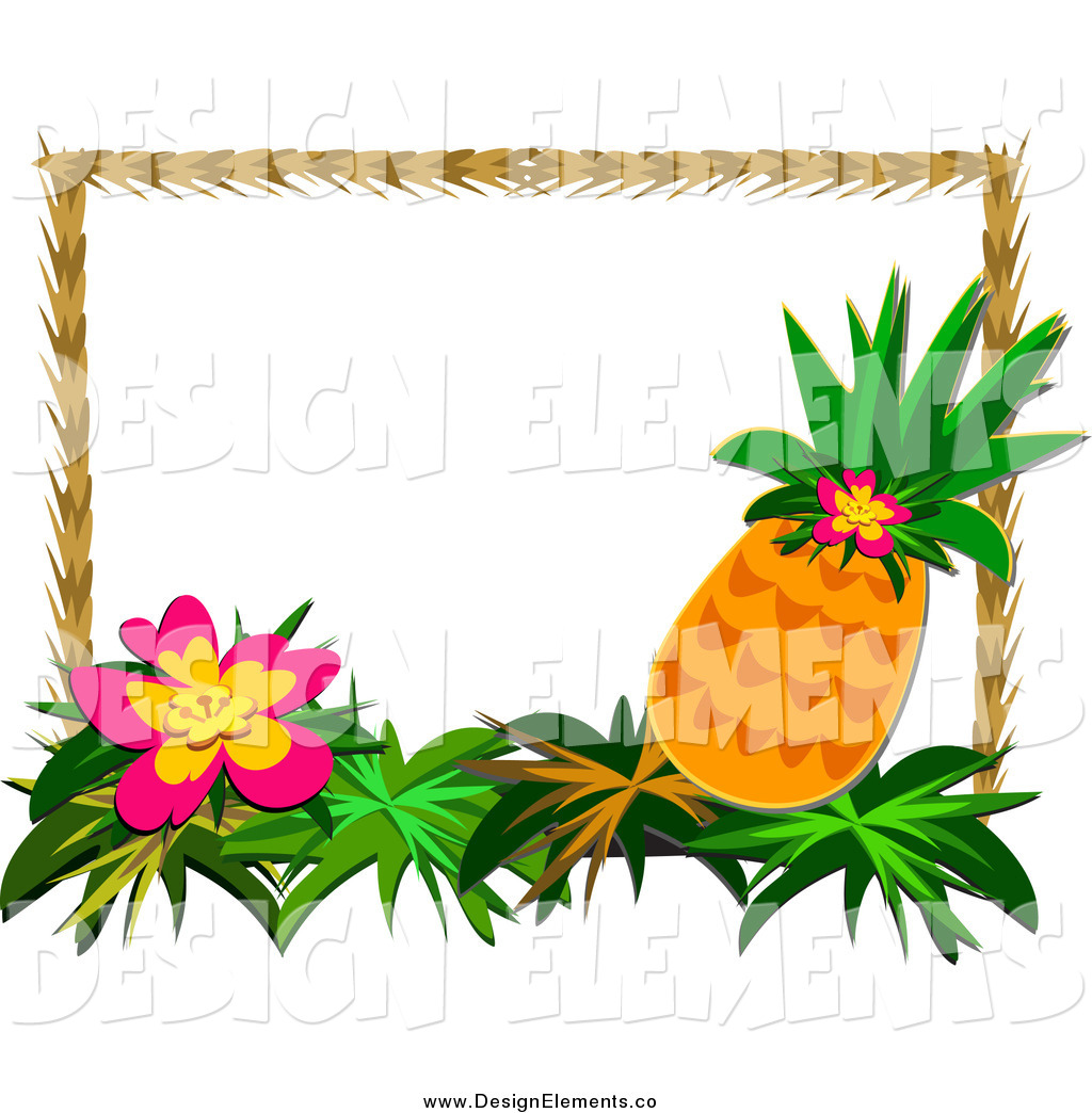 Welcome pineapple clipart