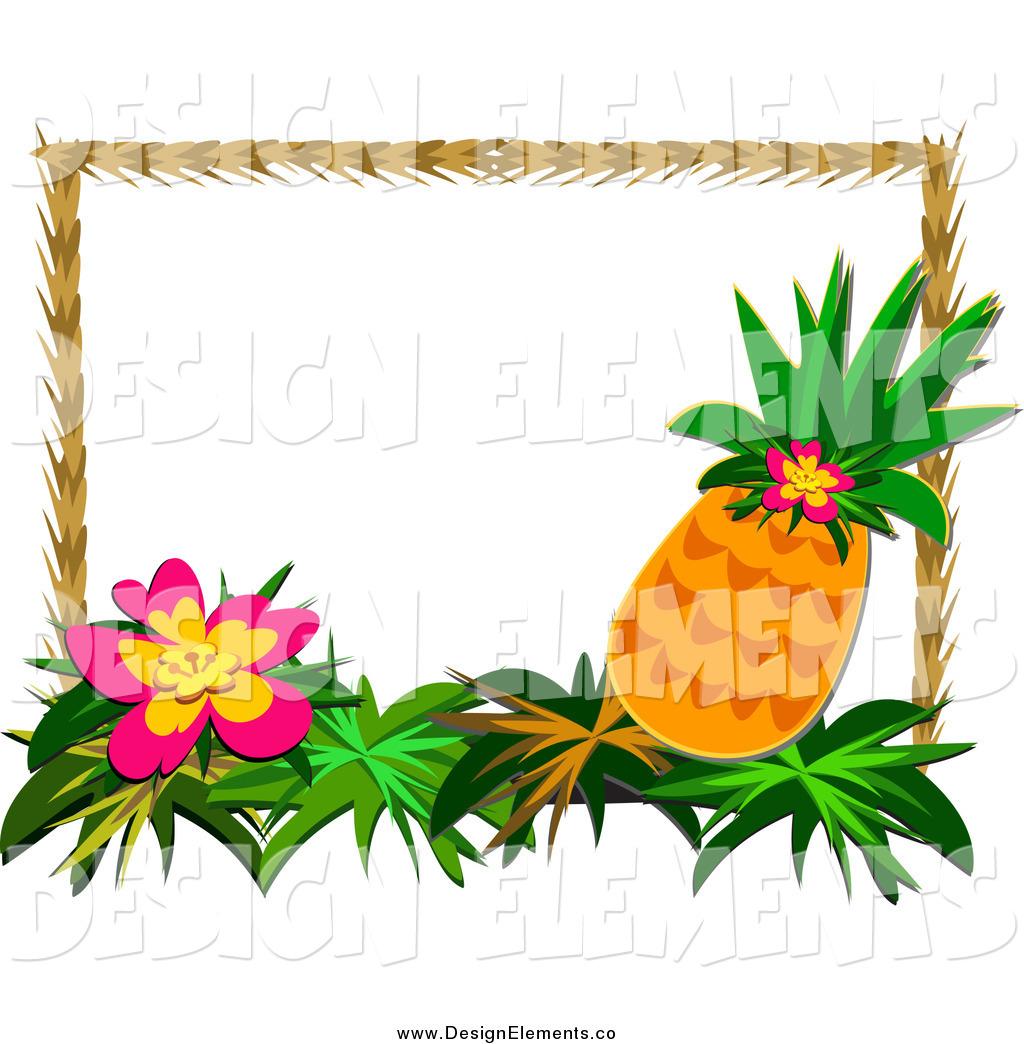 Tropical frame clipart free image transparent download Tropical Flower Clipart Tropics Border - Clipart1001 - Free ... image transparent download