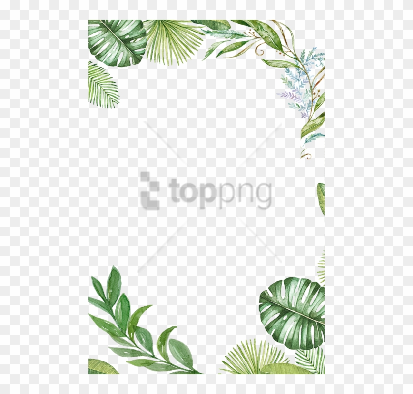 Tropical frame clipart free transparent Free Png Tropical Leaves Frame Png Image With Transparent ... transparent