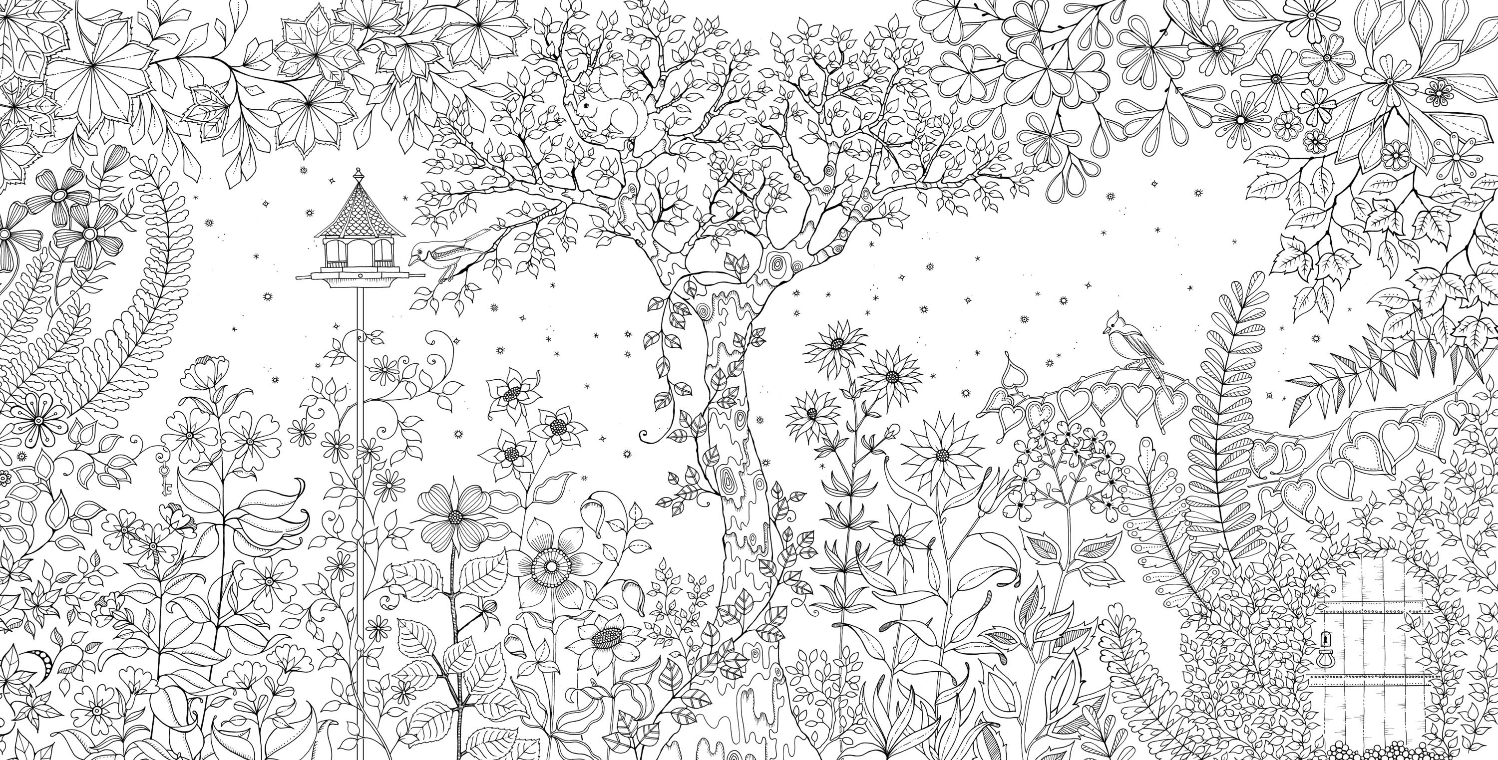 Tropical garden clipart for coloring image library library Coloring pages ~ <em <a Href Secret Garden Coloring Book ... image library library