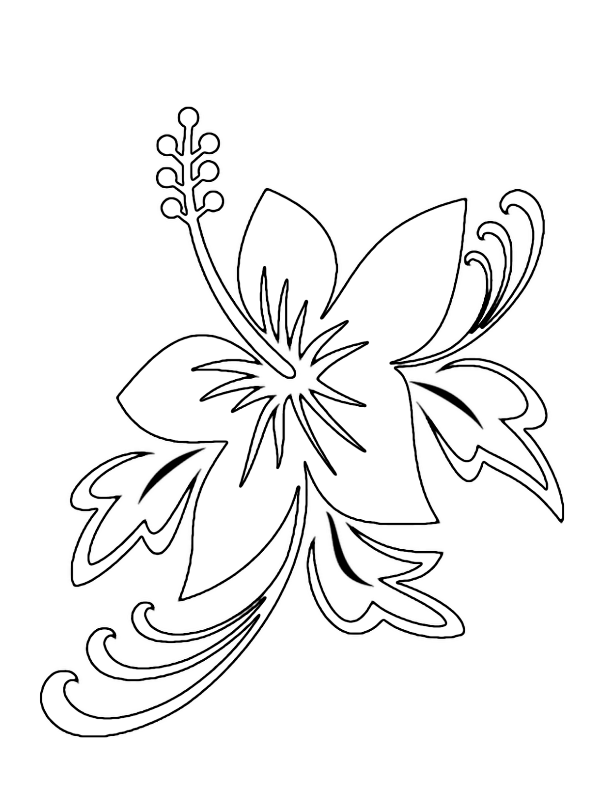 Tropical garden clipart for coloring jpg royalty free download Free Tropical Flower Drawings, Download Free Clip Art, Free ... jpg royalty free download