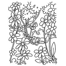 Tropical garden clipart for coloring image transparent stock Top 47 Free Printable Flowers Coloring Pages Online image transparent stock