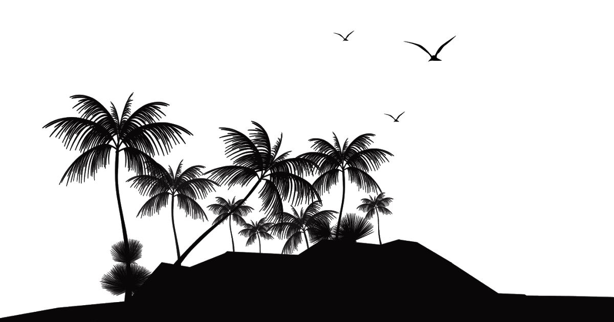 Tropical island baby clipart vector stock Tropical Islands Resort Silhouette Island Beach Clip art ... vector stock