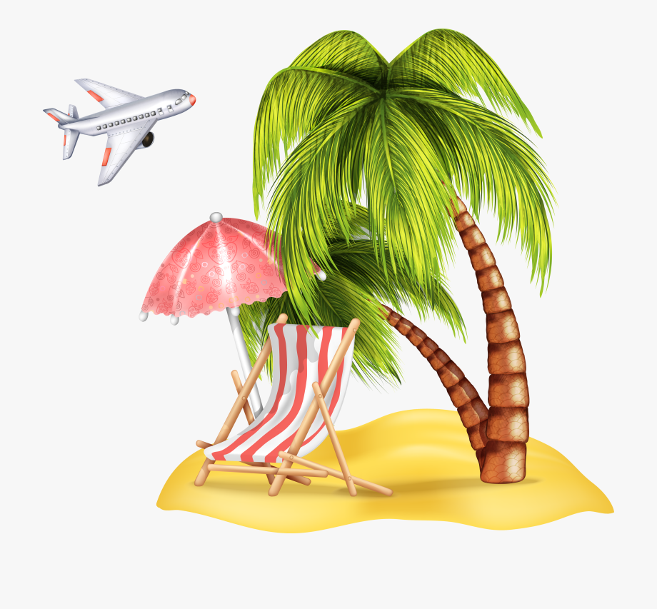 Tropical island baby clipart png library library Palm Islands Beach Clip Art - Beach Palm Trees Png #807852 ... png library library