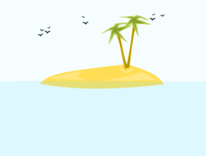 Tropical Island Clip Art at Clker.com - vector clip art ... transparent