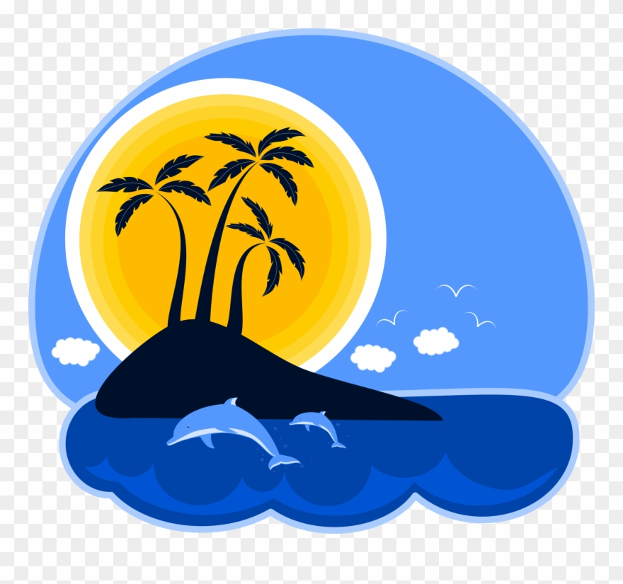 Tropical Island Clipart Png Graphic Royalty Free Library ... clip free stock