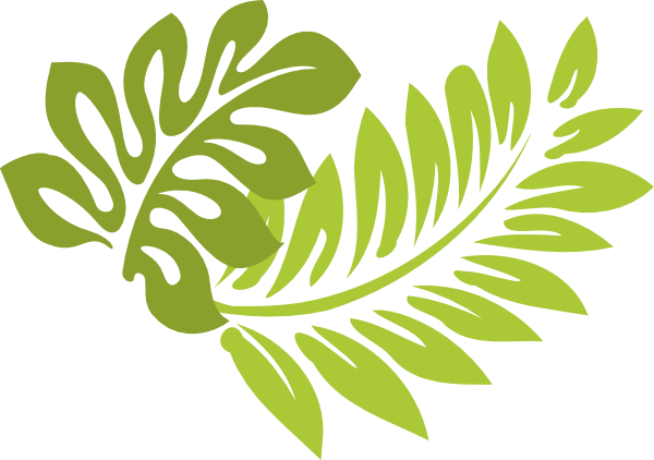 Library of tropical leaf clip art library png files ...