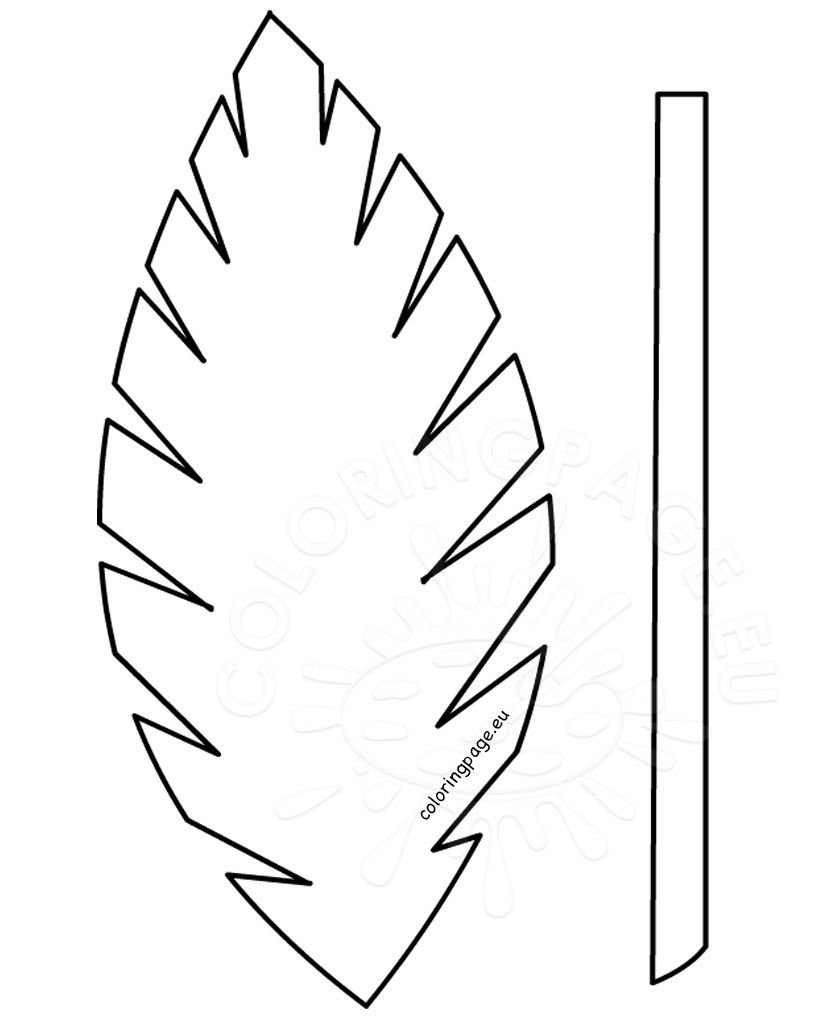 Palm leaves with pineapple clipart black and white png royalty free Templates Palm Leaf For Template Printable COLORING PAGES ... png royalty free