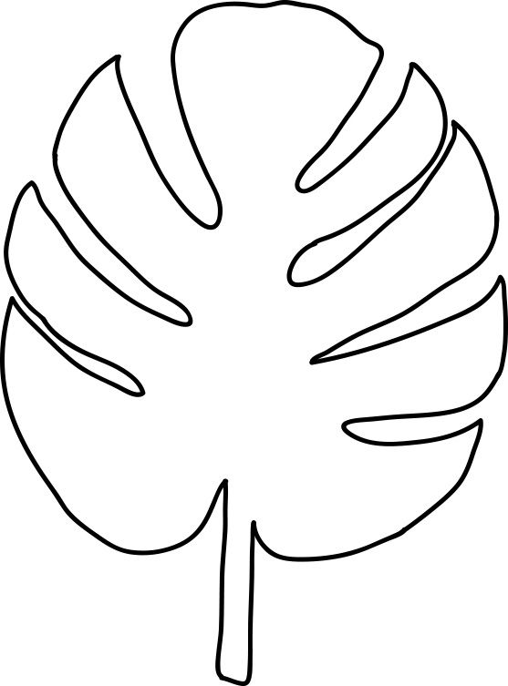 Tropical leaves clipart for coloring clip free download 28 Images of Large Palm Leaf Template Printable | infovia ... clip free download