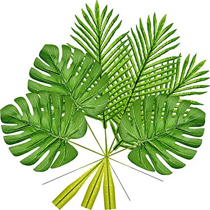 Tropical palm leaves clipart picture freeuse library Frienda 10 Pack Artificial Tropical Palm Leaves and 10 Pack ... picture freeuse library