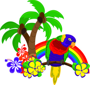 Hawaiian Tropical Paradise Clipart - Clip Art Library svg transparent stock