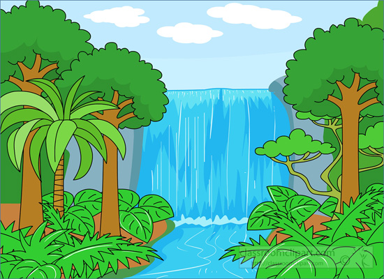 Waterfalls clipart