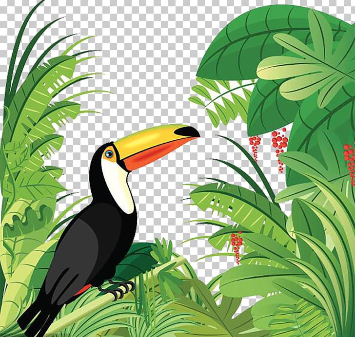 Tropical rainforest jaguar clipart vector transparent Amazon Rainforest Tropical Forest Bird Tropical Rainforest ... vector transparent