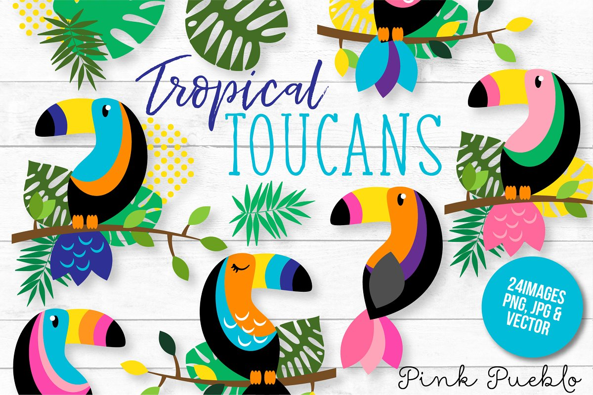 Tropical toucan clipart clipart freeuse library Tropical Toucan Clipart and Vectors clipart freeuse library