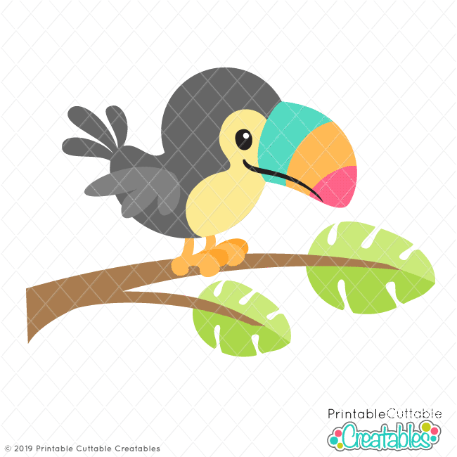 Tropical toucan clipart picture transparent library Tropical Toucan SVG File & Clipart for Cricut & Silhouette picture transparent library