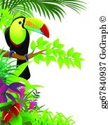 Tropical toucan clipart svg download Toucan Clip Art - Royalty Free - GoGraph svg download