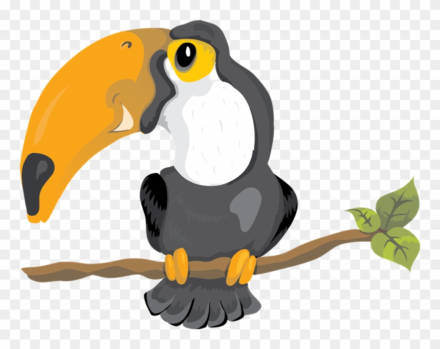 Tropical toucan clipart vector free library Toucanet Clipart Vertebrate - Tropical Toucan Tile Coaster ... vector free library