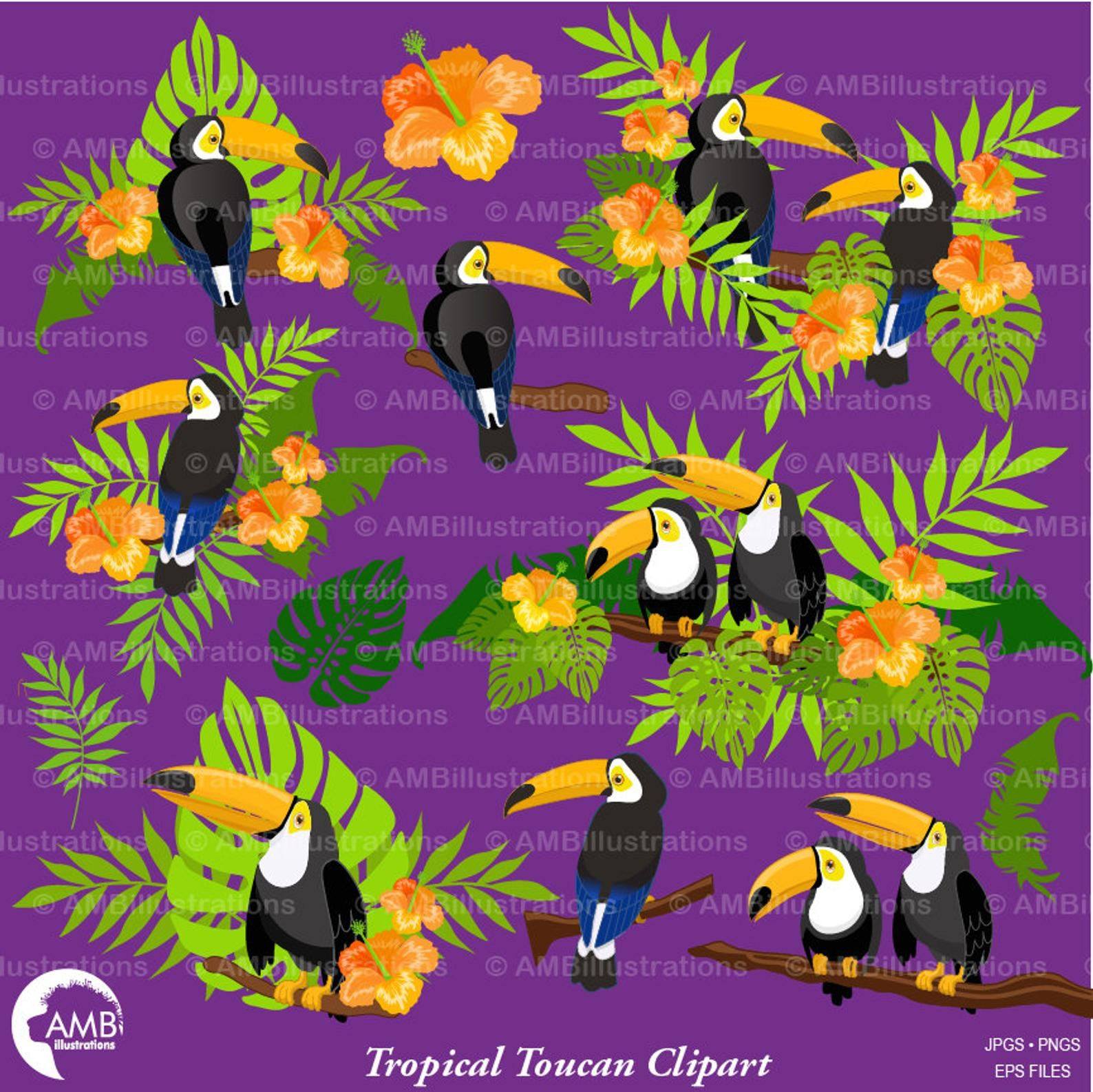 Tropical toucan clipart graphic free download Toucan Clipart, tropical Toucan Clipart, Tropical Clipart ... graphic free download