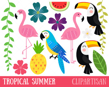 Tropical toucan clipart png freeuse library Tropical Birds Clip Art, Flamingo, Toucan, Parrot png freeuse library
