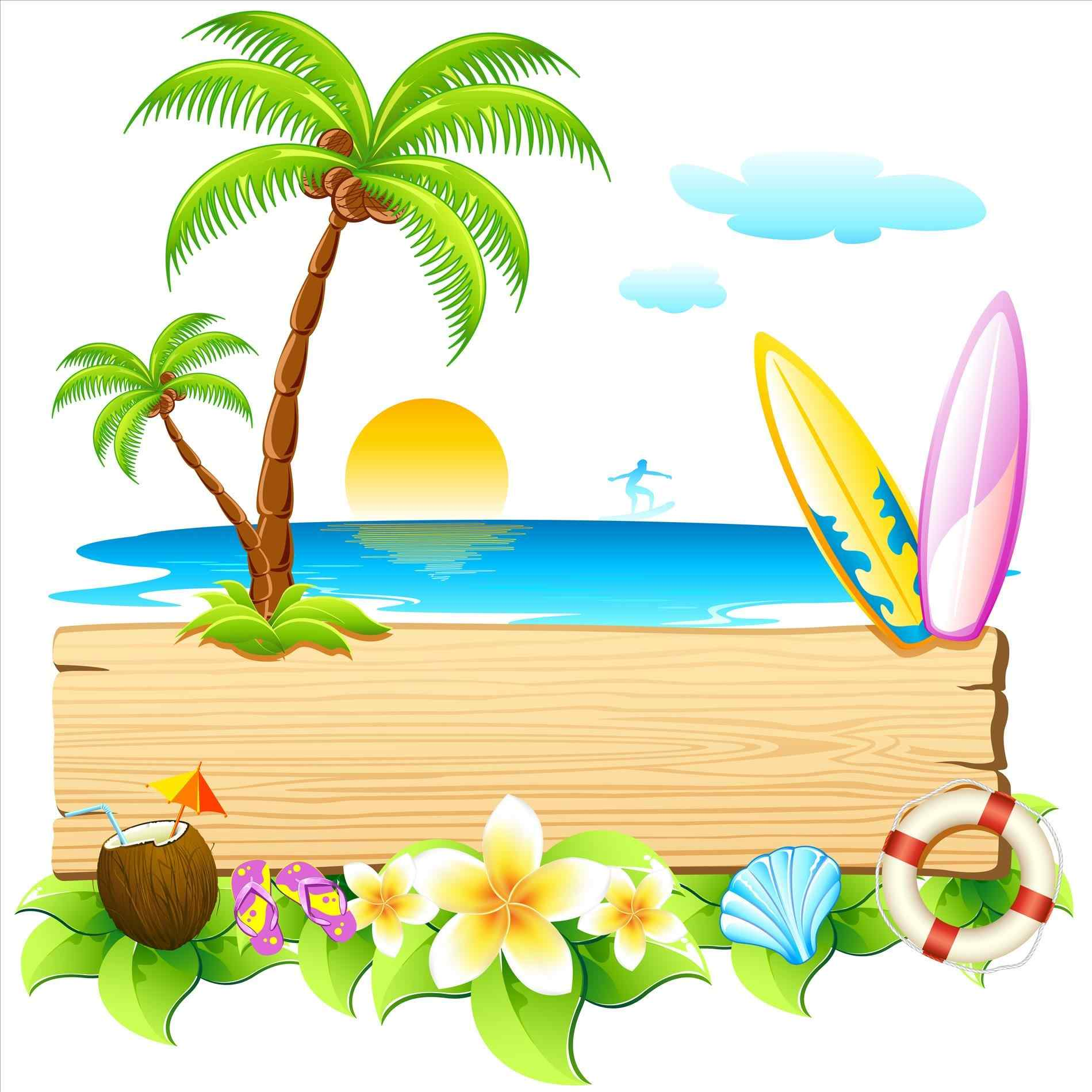 Tropical vacation clipart picture free download Beach Vacation Clipart | Free download best Beach Vacation ... picture free download