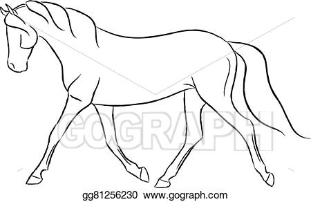 Trotting clipart clip royalty free library Vector Stock - Trotting horse. Clipart Illustration ... clip royalty free library