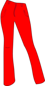 Trouser clipart picture black and white download Women Trousers Red Clip Art at Clker.com - vector clip art ... picture black and white download