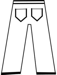 Trousers clipart black and white - Clip Art Library picture transparent stock
