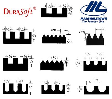 Trowel size vector download Marshalltown Notched Trowels Durasoft Handle. Contractors Direct vector download