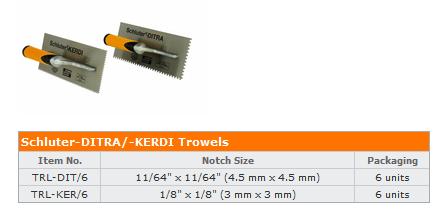 Trowel size clip art stock Trowel size for Schluter Ditra - Ceramic Tile Advice Forums - John ... clip art stock