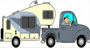 Truck and 5th wheel clipart clipart transparent Free 5th Wheel RV Clipart clipart transparent
