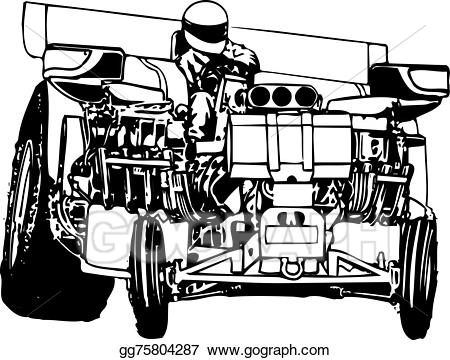 Truck and tractor pull clipart clip art black and white download Vector Art - Tractor pulling. Clipart Drawing gg75804287 ... clip art black and white download