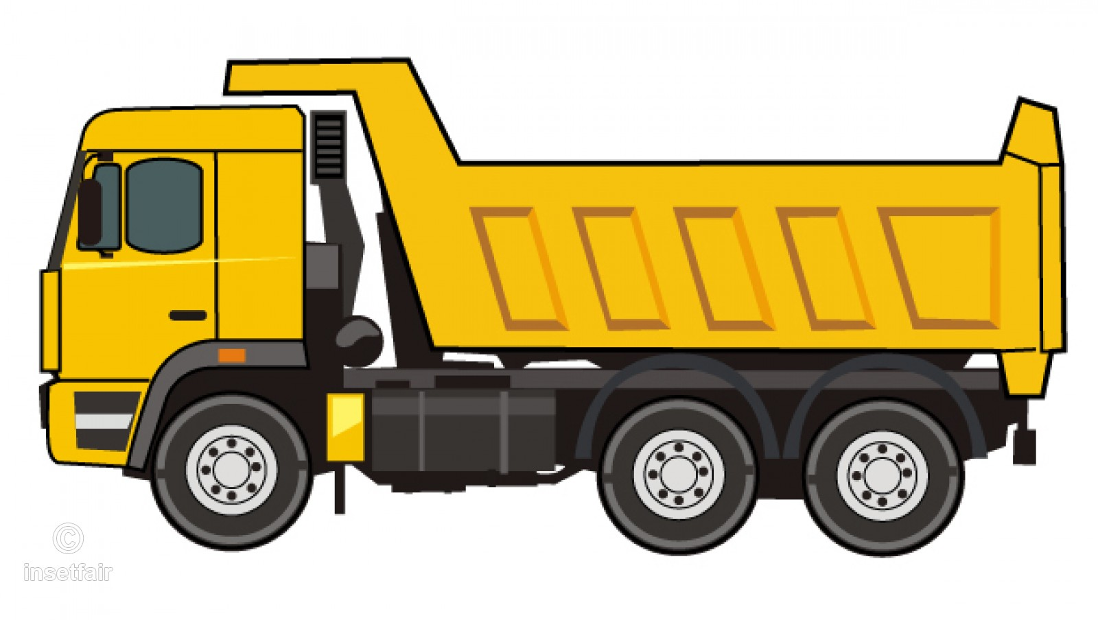 Truck clipart clipart freeuse Dump truck flat vector clipart illustration PNG file clipart freeuse